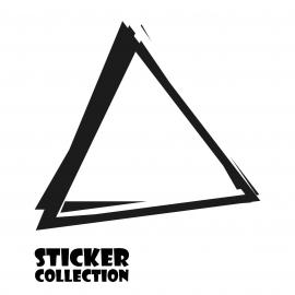 Sticker Adhesivo para Portatil HT Triangle Black