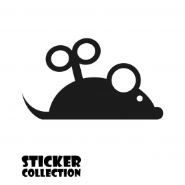 Sticker Adhesivo para Tablet HT Mousy Black