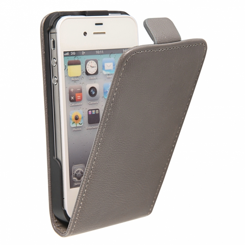 Funda movil ht vertical exclusive grey para iphone 4 4s - Fundas iphone 4 4s ...